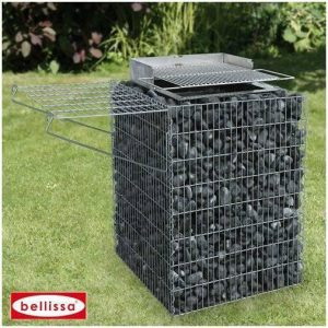 Raised Gabion Bar-B-Q-0