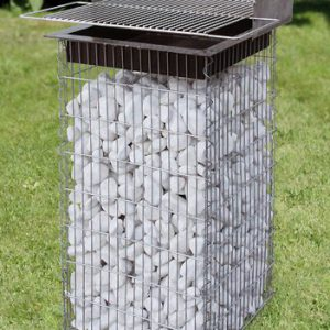 Raised Bar-B-Q Gabion Column-0