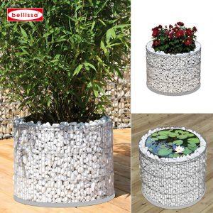 Round Gabion Planter-0