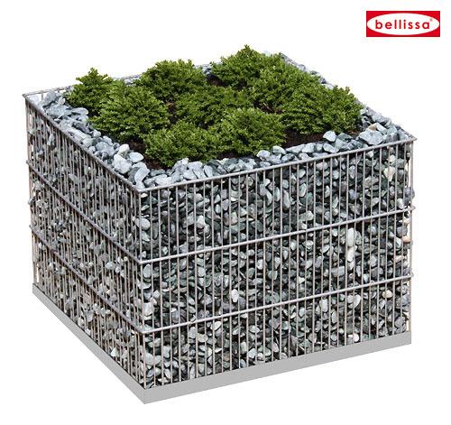 Square Gabion Planter-0