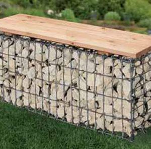 Gabion garden bench-0