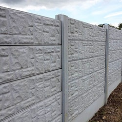 Rockface Panel Fence