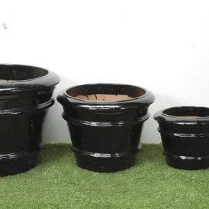 Nestor Pots - Black Glazed-0