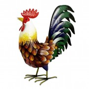 Farmyard Metal Cockerel-0