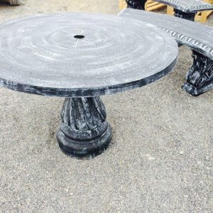 Round Table and curved Benches-2075