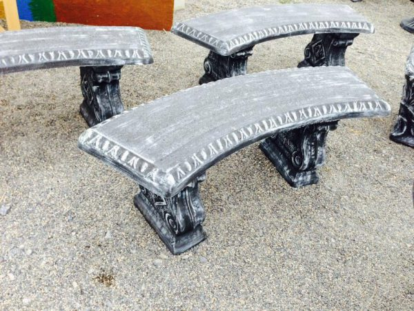 Round Table and curved Benches-2076