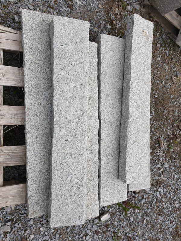 Grey Granite Kerb Rockface
